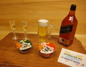 ミニチュア ドールハウス フード 飲み物 酒 生ビール ウィスキー